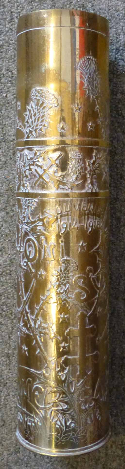 acid etched trench art