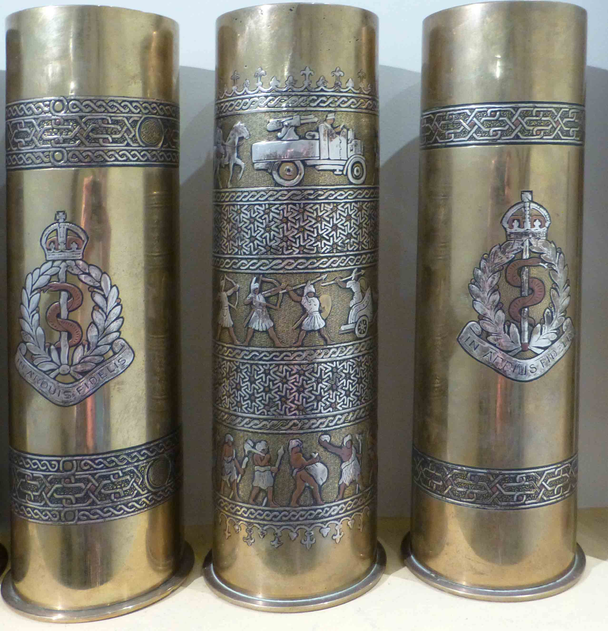 Decorated Shell Casings - Inlaid