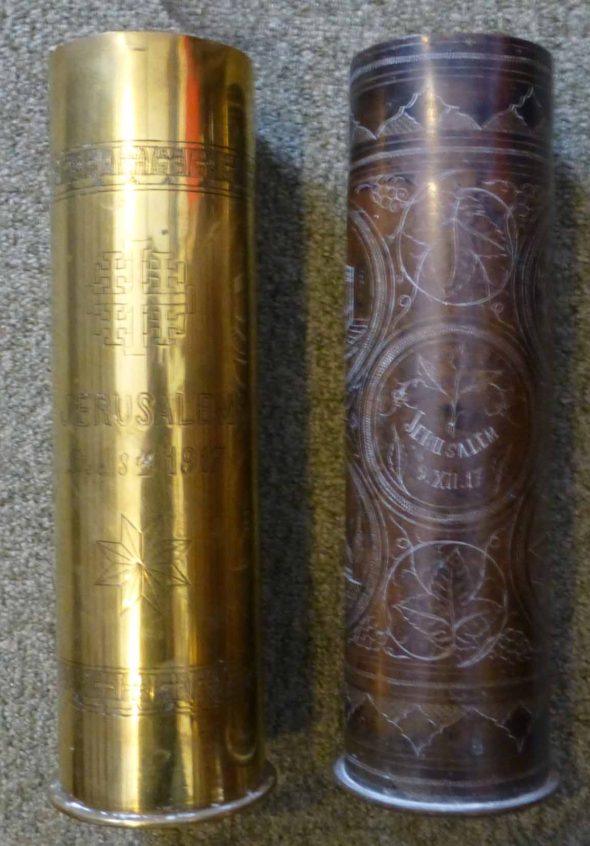 etched trench art