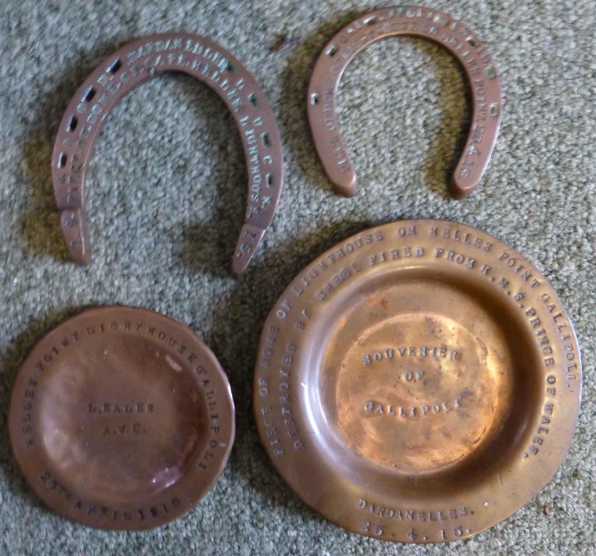 helles lighthouse copper relics trench art